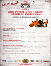 Click for 2013 Rally MAG 7 Pit Services Info